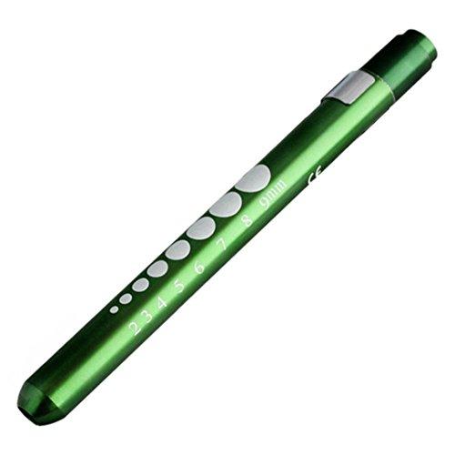 OWIKAR LED Diagnostic Medical Pen Light, Pupil Gauge Measurements LED Penlight Reusable Healthcare Pen Light For Nursing Students Doctors Stethoscope Medical Occasion (Green)