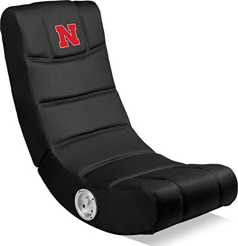 Imperial Officially Licensed NCAA Furniture: Ergonomic Video Rocker Gaming Chair with Bluetooth, Nebraska Cornhuskers (Ncaa Hockey Video Game)