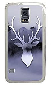 Misty Deer Clear Hard Case Cover Skin For Samsung Galaxy S5 I9600