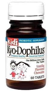 Kyolic Kid's Kyo-Dophilus Probiotic Supplement (60-Tablets)