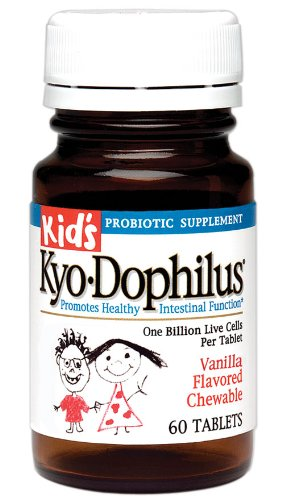 Kid's Kyo-Dophilus Probiotic Supplement (60 Tablets) Soy- Gluten-Free, Digestive Health Support by Kyolic