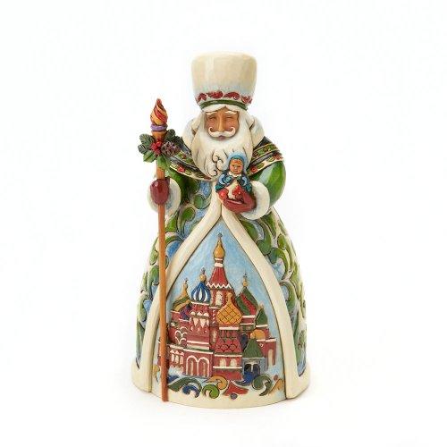 Jim Shore Heartwood Creek Russian Santa Stone Resin Figurine, 7