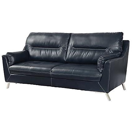 Amazon.com: Furniture of America Dubas Faux Leather Sofa in ...