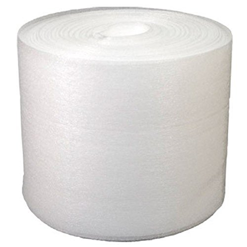 UBOXES Foam Wrap Roll 150' x 12 Inch Wide 1/16 Inch Thick Perforated 12 Inch