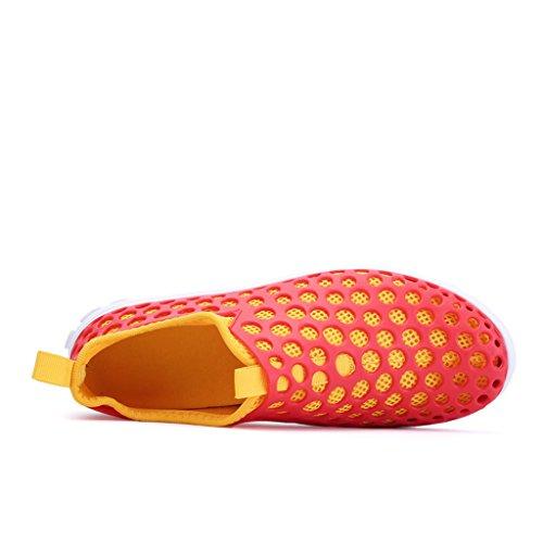 Wasserschuhe Oriskey Schwimmschuhe Herren für Rot Surfschuhe Wattschuhe Strandschuhe Gelb Wassersportschuhe Aquaschuhe Badeschuhe HqxrYg0H1