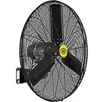 Outdoor Oscillating Wall Mounted Fan, 30 Diameter, 3/10hp, 8400cfm