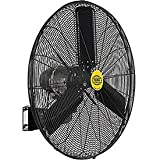 Outdoor Oscillating Wall Mounted Fan, 30' Diameter, 3/10hp, 8400cfm