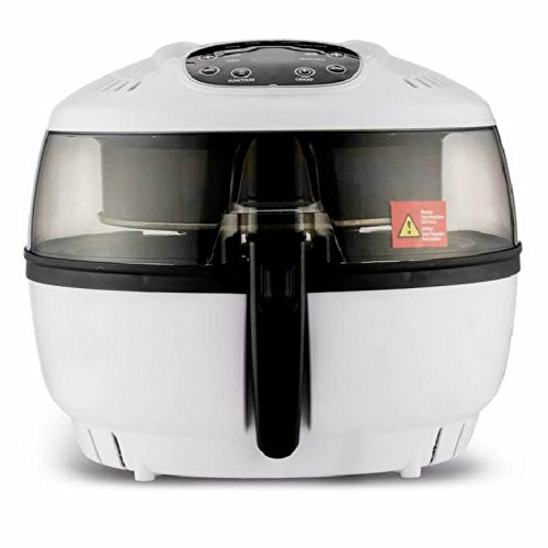 3D Electric Oiless Air Fryer 1500W 6.3 Quart Low Fat Air Cooker Oil-Free Roaster W/Viewing Lid Kitchen Multi Cooking Machine for Frying Roasting