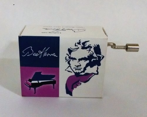 Fridolin Beethoven en una Caja–canción de la Alegría/Oda an Die Freude handcrank Caja de música