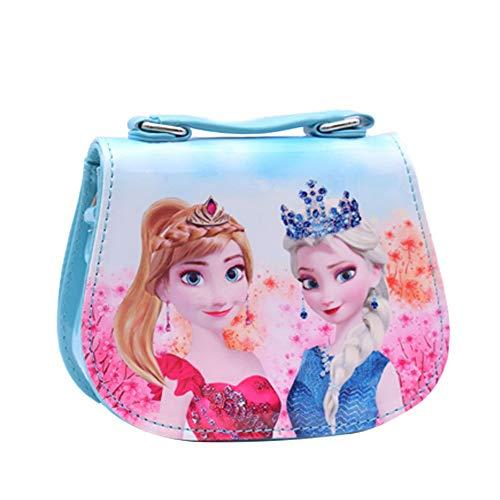 Disney Frozen - Bolso bandolera infantil para niña, diseño de Elsa y Anna, Azul, One_Size