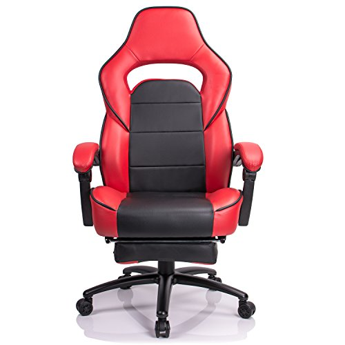 41Pvxer8o0L - Aminiture-Big-and-Tall-Gaming-Chair-Executive-Reclining-Racing-High-Back-PU-Leather-Swivel-Chair-Computer-Desk-Lumbar-Support-Home-Office-Chair-with-Footrest
