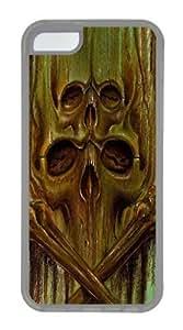 Green Skulls Custom iPhone 5C Case Cover TPU Transparent