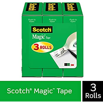 Scotch Magic Tape, Numerous Applications, Invisible, Engineered for Office and Home Use, 3/4 x 1296 Inches, Boxed, 3 Rolls (810-3PK)