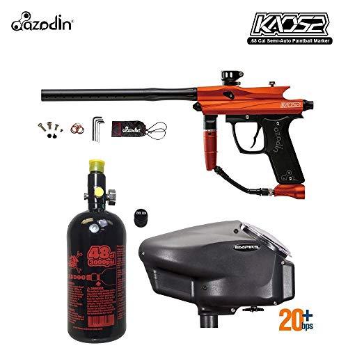 MAddog Azodin KAOS 2 HPA Paintball Gun Package A - Orange/Black ()