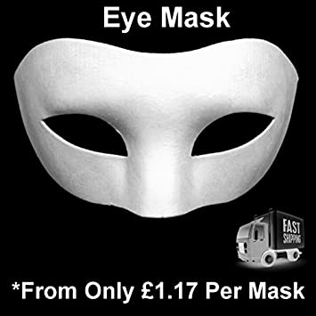 40 X HALF FACE MASK PAINT MASK DECORATE PLAIN MASKS White Mask Classy Half Masks To Decorate
