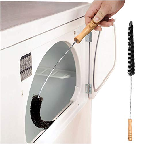 Noa Store Clothes Dryer Lint Vent Trap Cleaner Brush Gas Electric Fire Prevention Exhaust - Made Of Stainless Steel