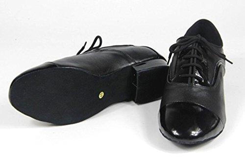 Abby M10 Hommes À La Mode Moderne Classique Tango Fermé Orteils Salle De Bal En Cuir Chaussures De Danse Standard Noir
