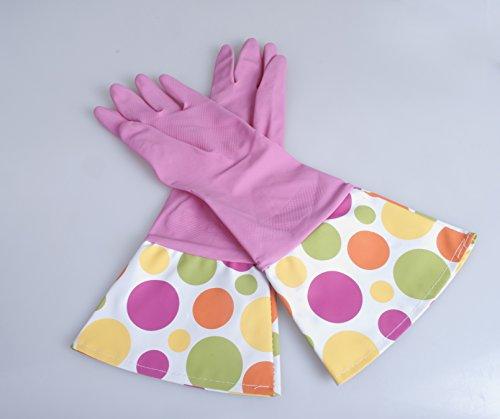 C21-00036 Uniware 17'' Glam Kitchen Gloves ,Polka Dots (1 Pack) ()