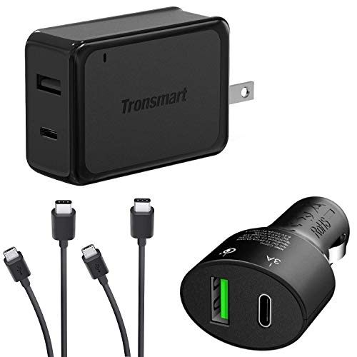 Turbo Quick Wall and Car Charger Kit for Sony C6916 with MicroUSB & USB Type-C Cables! (33Watts) (Sony C6916)