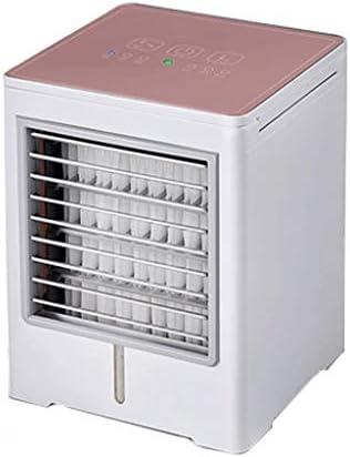 ミニエアコンファンエアコンファン充電することができます冷たい空気ミュートポータブルエアクーラー小さな寮のミュート大きな風オフィステーブル加湿冷却空気クーラー (Color : C, Size : 145*145*190mm)