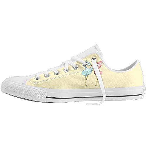 Flamingo Couple Low-Cut Canvas Shoes Unisex Sneaker-All Season Casual Trainers For Men And Women ColourName (Costume National Shoes Online)