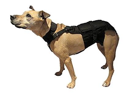 DOGonGEAR Envoltura para pañales de perro, tamaño mediano (largo), color negro