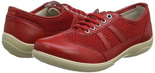 Zapatos Derby Para Rojo Cordones Julie De red Padders Mujer wIq5BZn
