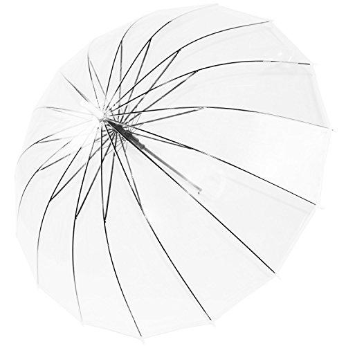 Kung Fu Smith Clear Umbrella for Weddings and Outdoor Events, Windproof Clear Rain Umbrella for Women & Men