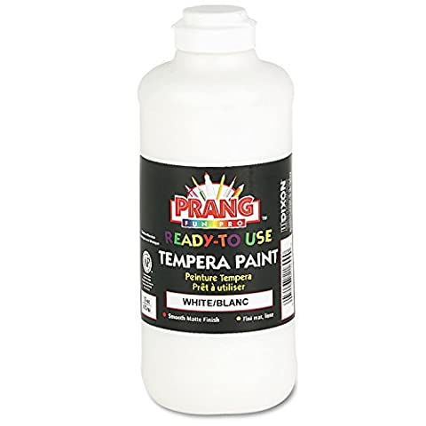Prang Ready-to-Use Liquid Tempera Paint, 16-Ounce Bottle, White (21609) (White Paint Tempera)