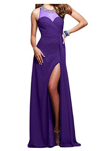 Toscana sposa incantesimo benda kraftool Chiffon stanotte vestimento per sposa giovane a lungo un'ampia Party ball vestimento viola 54
