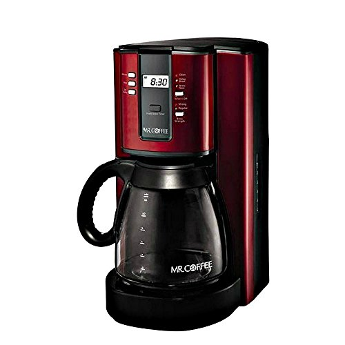 Mr. Coffee, 12-Cup Programmable Coffeemaker, Red (Cusinart Red Coffee Maker)