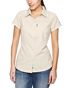 Columbia Women's Silver Ridge Short Sleeve Shirt, Fossil, X-Small