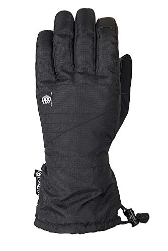 (686 Men's Gauntlet Softshell Glove | Waterproof Ski and Snowboard Gloves | Black - XL)