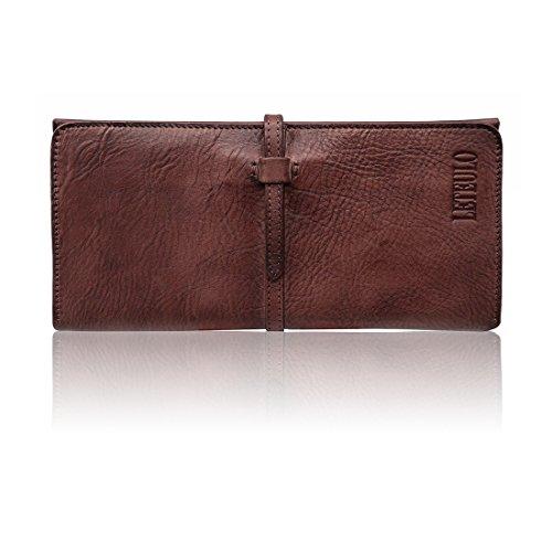 Wallets for Women Genuine Leather Card Organizer Dip Dye Coin Purse Ladies Ultrathin Wallets(879,Coffee)