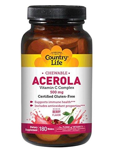 Country Life Acerola C, 500 mg, - Country Vitamin Natural Life