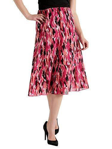 lastique rose Balsamik Imprime ceinture Jupe entirement ample femme avec wqxrXAn8q