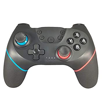 ACHICOO Bluetooth Wireless Pro Controller Gamepad Joypad Remote for Nintend sw/Itch Console Gamepad Joystick Left Blue Right red