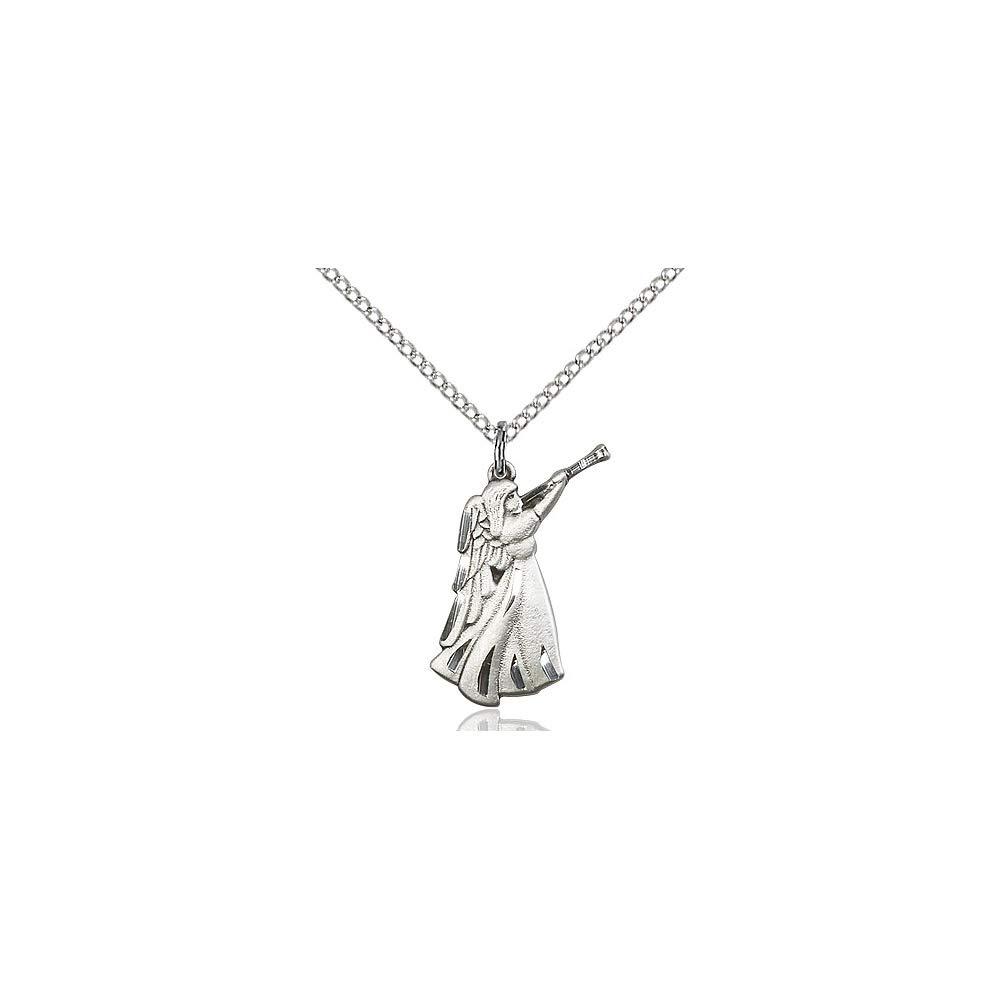 DiamondJewelryNY Sterling Silver Guardian Angel Pendant