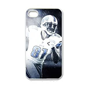 NFL iPhone 4 4s White Cell Phone Case Detroit Lions PNXTWKHD2039 NFL Plastic Personalized Phone Case Cover