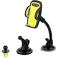 Omaker Car Mount Holder 3-in-1 Air Vent Cell Phone Holder Cradle Dashboard Windshield Universal for iPhone 7 Plus,8 Plus,X,7,6S,6,Samsung Galaxy Note S6 S7 and More