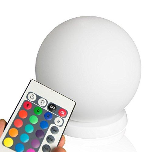 minify RGB LED Ball : 50cm Kugel mit Fernbedienung, Akku und Induktionsladestation für Haus, Terrasse, Garten und Gastronomie (50cm)