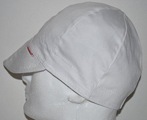 Comeaux Caps Reversible Welding Cap Solid White 2000e