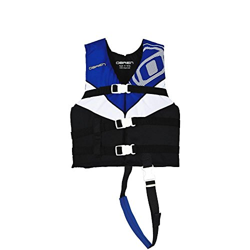 Black Kids Life Vest (O'Brien Child 3 Buckle Nylon Life Vest (Blue/White/Black, 30-50-Pounds))