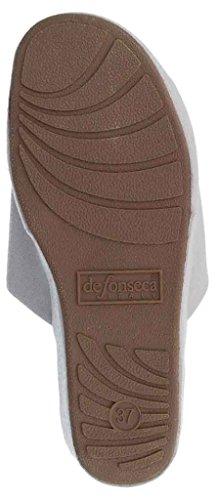 DE FONSECA ciabatte pantofole da donna cotone mod. PALERMO W153 grigio ch.