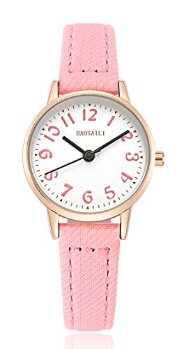 (BAOSAILI Watch for Girls Easy Reading Times Teacher Leather Kids)
