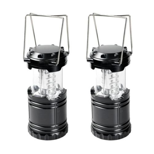Sky Garden Recessed Light ((2) Pack Camping Lantern Portable Collapsible 30 LED Night Light Lamp Flashlight)
