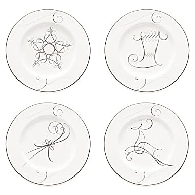 Noritake Platinum Wave Holiday Appetizer Plates, Set of 4