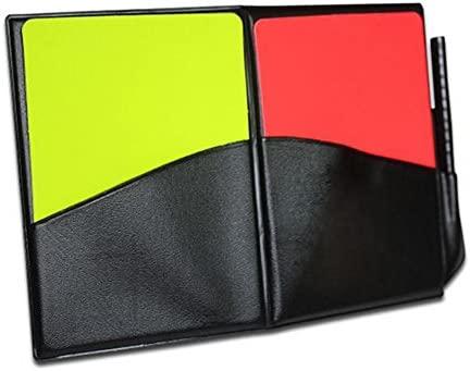 Beautyrain 3 set Caso de árbitro de fútbol Tarjeta roja amarilla ...