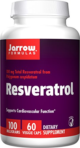 Jarrow Formulas Resveratrol, Supports Cardiovascular Function, 100mg, 60 Veggie Caps