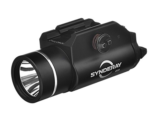 SyndeRay Cree LED Tactical Weapon Light,Compact Pistol Flashlight with Picatinny Rail Mount and Tail Remote Switch